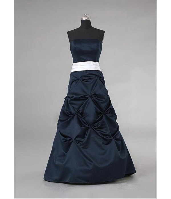 Ink Blue Long Strapless Bridesmaid Dresses Floor-Length Ball Formal Gowns Formal Dress Australia