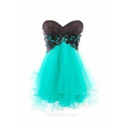 Simple Dress Hot-selling A-line Black Sweetheart Short Prom Dresses/Homecoming Dresses/Evening Dresses