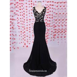 Top 10 Elegant Cheap Black Lace Formal Dresses Australia Online Shop