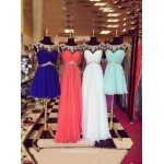 New Burgundy Tulle With Beading Bridesmaid Dress/Prom Dress New Arrival