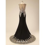 Australis Women Dress Evening Gown Black Spandex Long Mermaid Formal Dress New Arrival