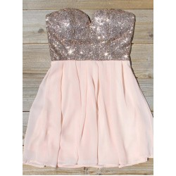 A Line Sweetheart Mini Chiffon Sequin Formal Dress Party Dress