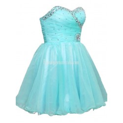 A-line Mini Sweethear Lace-up Formal Dress Party Dress With Sequins