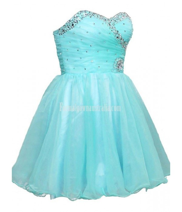 A-line Mini Sweethear Lace-up Formal Dress Party Dress With Sequins New Arrival