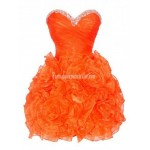 Cute short orange corset puffy prom formal homecoming party dress New Arrival
