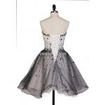 Hot Sales Black And White Ball Gown Mini Short Strapless Tulle Formal Dress Prom Dress Vestidos De Fiesta New
