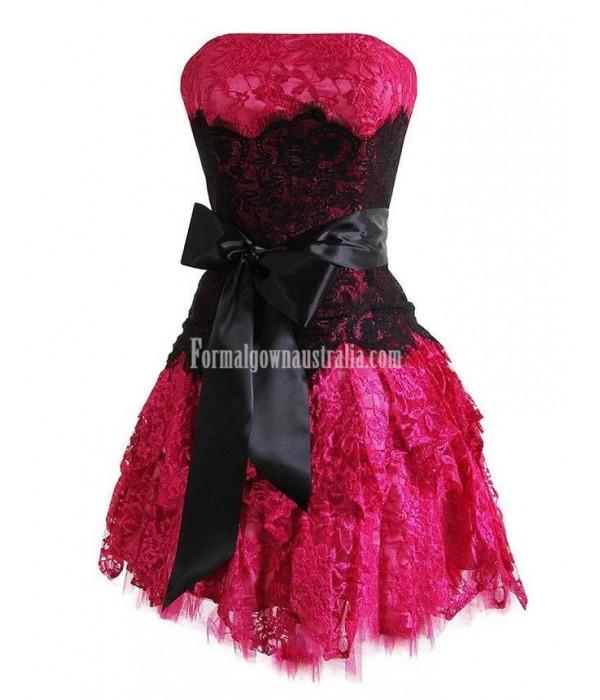 Maillsa women Lace Formal Homecoming Prom Dress short dress strapless dress New