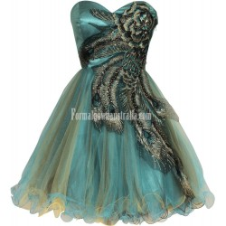 Gorgeous A Line Sweetheart Embroidery Beading Short Cocktail Homecoming Dress