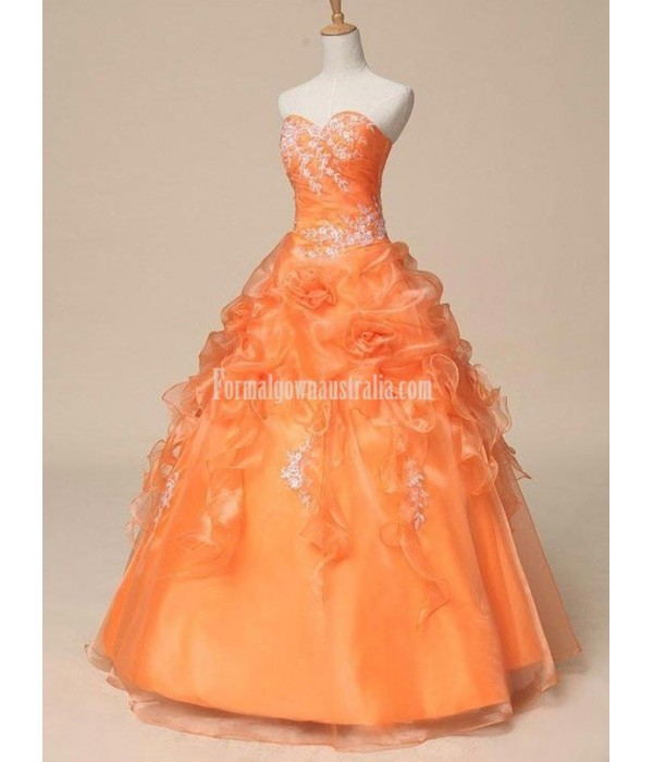 Real Puffy Sweetheart Ruched Bodice Floor Length Long Victorian Ball Gown Formal Dress Prom Dresses With Appliques New