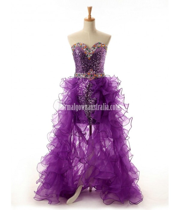 Sparkle Sweetheart Tulle Formal Dress Party Dress With Ruffle New