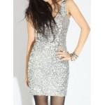 Best Saller Slim Straps Party Dress V-neck Handmade Beading Formal Dress New