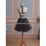 Simple-dress Handmade Two-pieces Short Sparkle Short Tulle Formal Party Dress New
