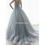 Grey-blue Color Sweetheart Formal Dress Crystals Princess Gallgown Wedding Dress New