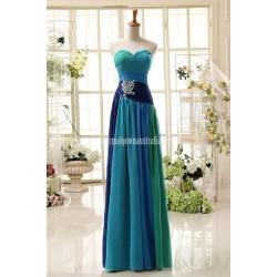 Simple Dress Elegant Sweetheart Princess Long Chiffon Colorful Formal Dress Prom Dress
