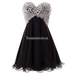Teen dance Sweetheart Tulle Off the Shoulder Party Crystal short dress