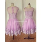 Homecoming Dress With Applique Scoop Neck Sleeveless A-Line Short Formal Dress Prom Dress New