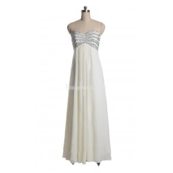 Elegant Sweetheart Beading Floor Length Chiffon Zipper Up Formal Dress Evening Dress