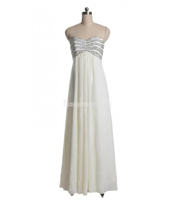 Elegant Sweetheart Beading Floor-length Chiffon Zipper-up Formal Dress Evening Gowns New