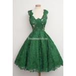 Ball Gown Black Lace Scoop Neck Appliques Sleeveless Knee-length Formal Homecoming Dress New