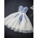 Australia Formal Dresses Cocktail Dress Party Dress White A-line Strapless Short Knee-length Tulle New