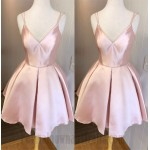 A-Line Short Candy Pink Spaghetti Straps Formal Party Dress New