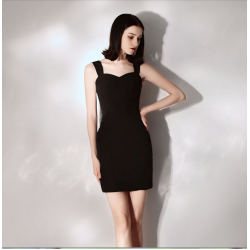 Australia Semi Formal Dress Short Zipper Back Sheath Column Little Black Dress
