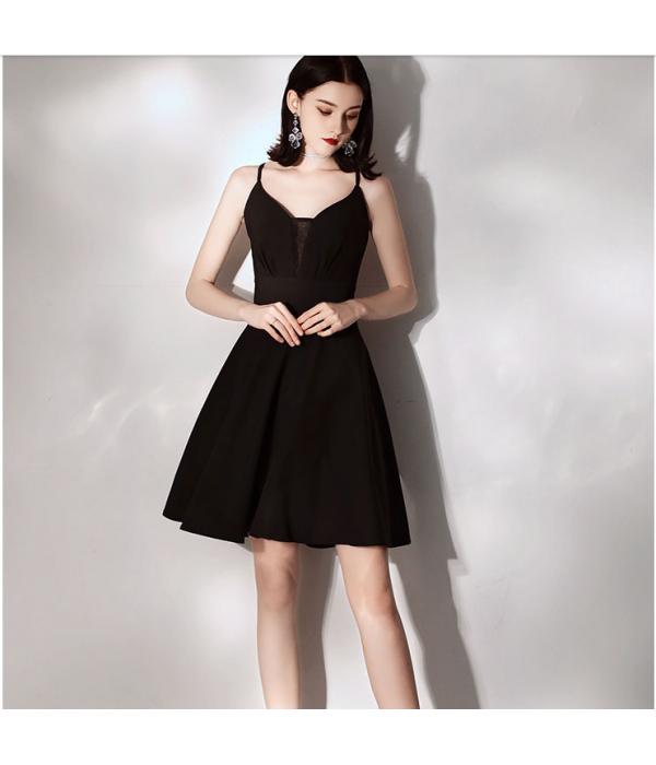 Australia Semi Formal Dress Deep-neck Criss Cross Straps Back A-line Dress New