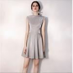 Australia Semi Formal Dress High-neck Sequined Sparkle & Shine Grey Short A-line Dress New