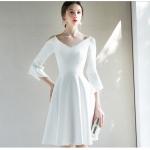 Australia Short Semi Formal V-neck Withe A-line Fashion Sleeves New