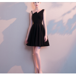 Australia Short Semi Formal Dress Fashion Neckline Little Black Dress New