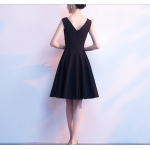 Australia Semi Formal Dress Short Square-neck Knee-Length Little Black Dress New