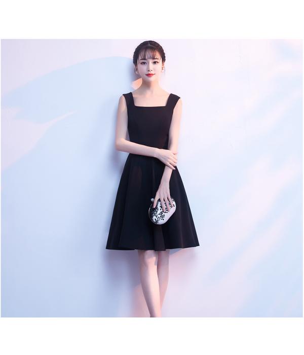 Australia Semi Formal Dress Short Square-neck Knee-Length Little Black Dress New