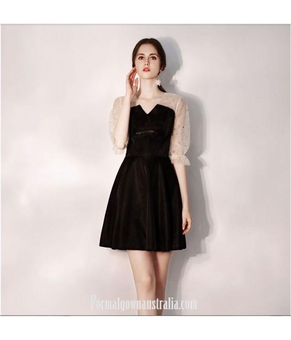 Australia Little Black Dress V-neck Knee-Length Half Sleeves Formal Dress Evening Gowns New