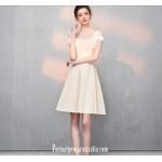 Australia Semi Formal Dress Square-neck A-line Champagne Short Chiffon New