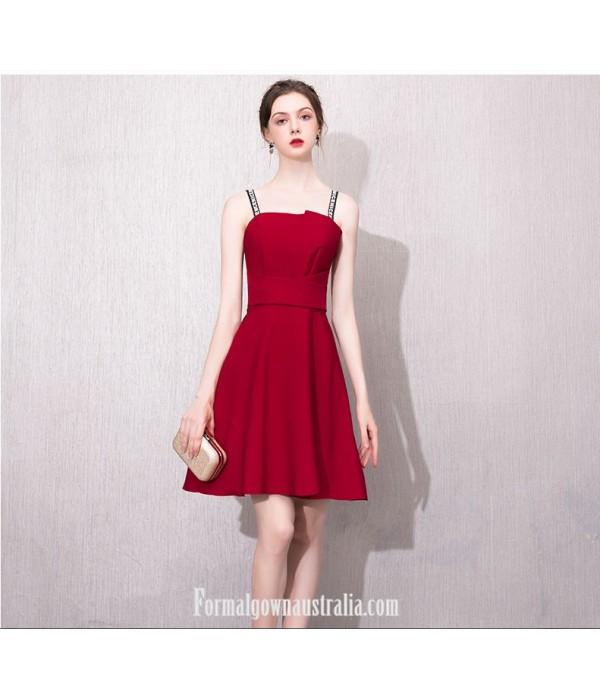 Australia Semi Formal Dress Fashion Letters Sling A-line Short Red New