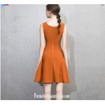 Australia Semi Formal Dress Caramel Color A-line Princess Short Dress New