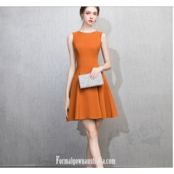 Australia Semi Formal Dress Caramel Color A-line Princess Short Dress