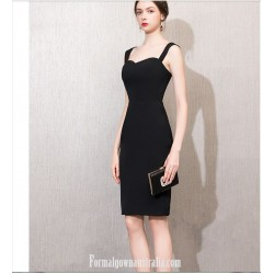 Australia Formal Dress Evening Gowns Knee Length Little Sheath Column Black Dress