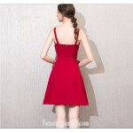 A-line Knee-length Spaghetti Straps Fashion neckline Short Semi Formal Dress New