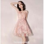 Australia Semi Formal Dress V-neck Pink Sling With Disc Short A-line Dress New