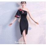 Sheath/Column Sexy One Shoulder Satin With Embroidery Australia Evening Dress New