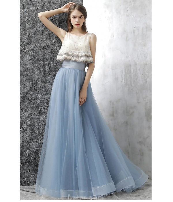 Fashion Sweep/Brush Train Lace-up Chiffon Lace Evening Dress With Beaded/Appliques New
