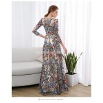 Glamorous Floor-length Exquisite Embroidery Prom Dress Invisible Zipper Boat-neck Long Sleeves Party Dress With Sequines New