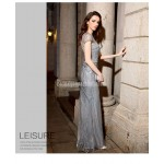Brilliant Mermaid/Trumpet Floor-length Sequined Sparkle & Shine Grey Evening Dress With Sequines New