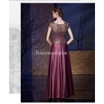 Noble and Elegant Floor-length Hand Embroidered Sequins and Lace Patterns Satin Evening Dress New