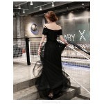 Noble Temperament Floor-length Lace-up Back Off The ShoulderFormal Dress With Appliques New