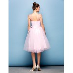 Australia Formal Dresses Cocktail Dress Party Dress Blushing Pink Plus Sizes Dresses Petite Ball Gown Straps Short Knee-length Tulle Formal Dress Australia