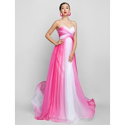Australia Formal Dress Evening Gowns Prom Gowns Military Ball Dress Fuchsia Plus Sizes Dresses Petite A-line Sweetheart Long Floor-length Chiffon