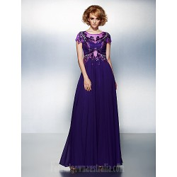 Dress Regency Plus Sizes Dresses Petite A-line Scoop Long Floor-length Chiffon