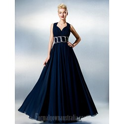 Dress Ink Blue Plus Sizes Dresses Petite A-line Sweetheart Long Floor-length Chiffon